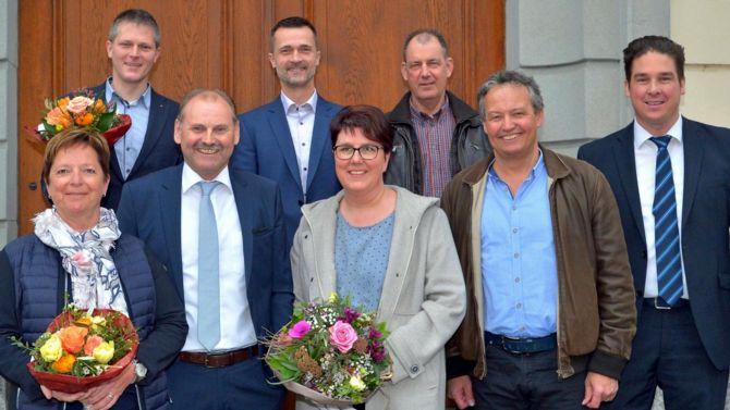 Mitglieder Stadtrat Weinfelden mit Stadtschreiber